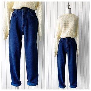 Vintage 90s Dark Wash High Rise Mom Jeans